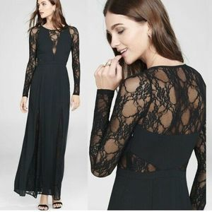 Express Lace Inset Maxi Gothic Vampire S&M Dress